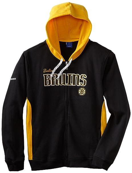9b88ca682b5 Amazon.com   NHL Reebok Boston Bruins Ladies Core Full Zip Hoodie - Black Gold    Sports Fan Sweatshirts   Clothing