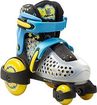 KRF Baby Quad Patines Extensibles, niño, Azul, FR: (30-33): Amazon.es: Zapatos y complementos