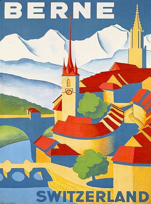 Amazon.com: Berne Suisse suizo Suiza Europa Europea Vintage ...