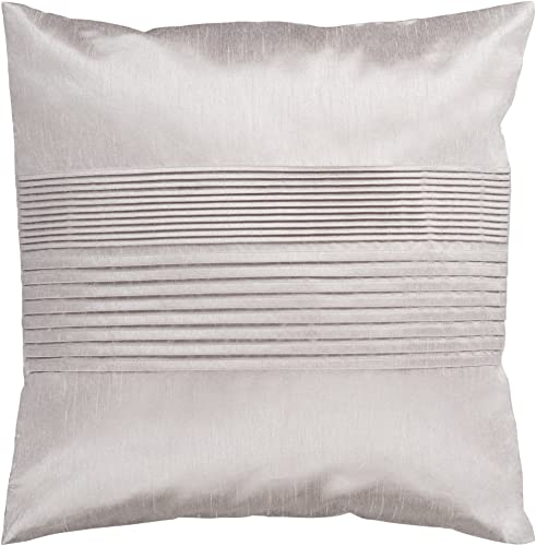 Artistic Weavers HH-015 Hand Crafted 100 Polyester Silver 22 x 22 Solid Decorative Pillow
