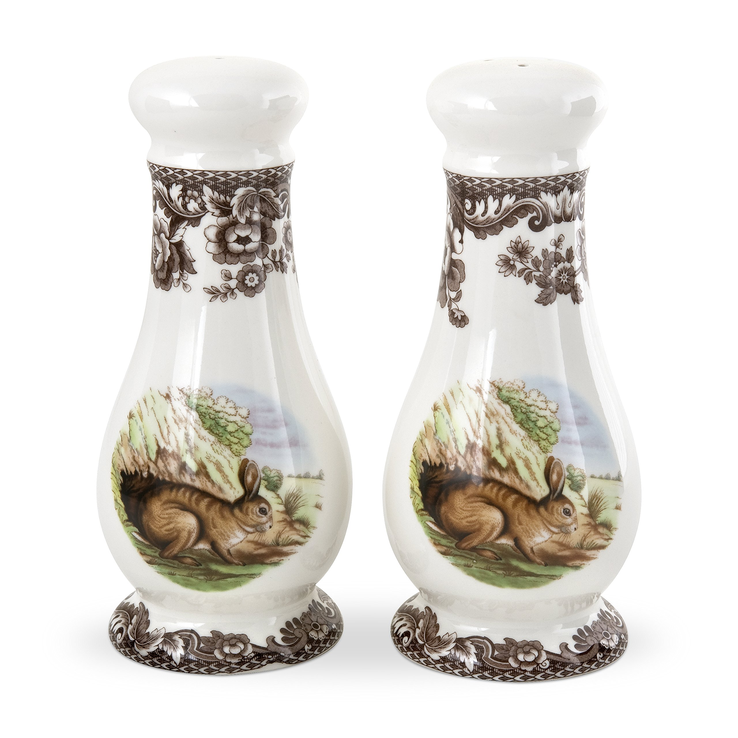Spode Woodland Rabbit Salt and Pepper Shakers by Spode