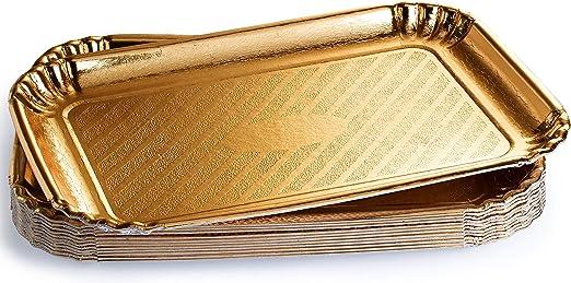 Amazon.com: Paquete de 12 bandejas doradas para tartas ...