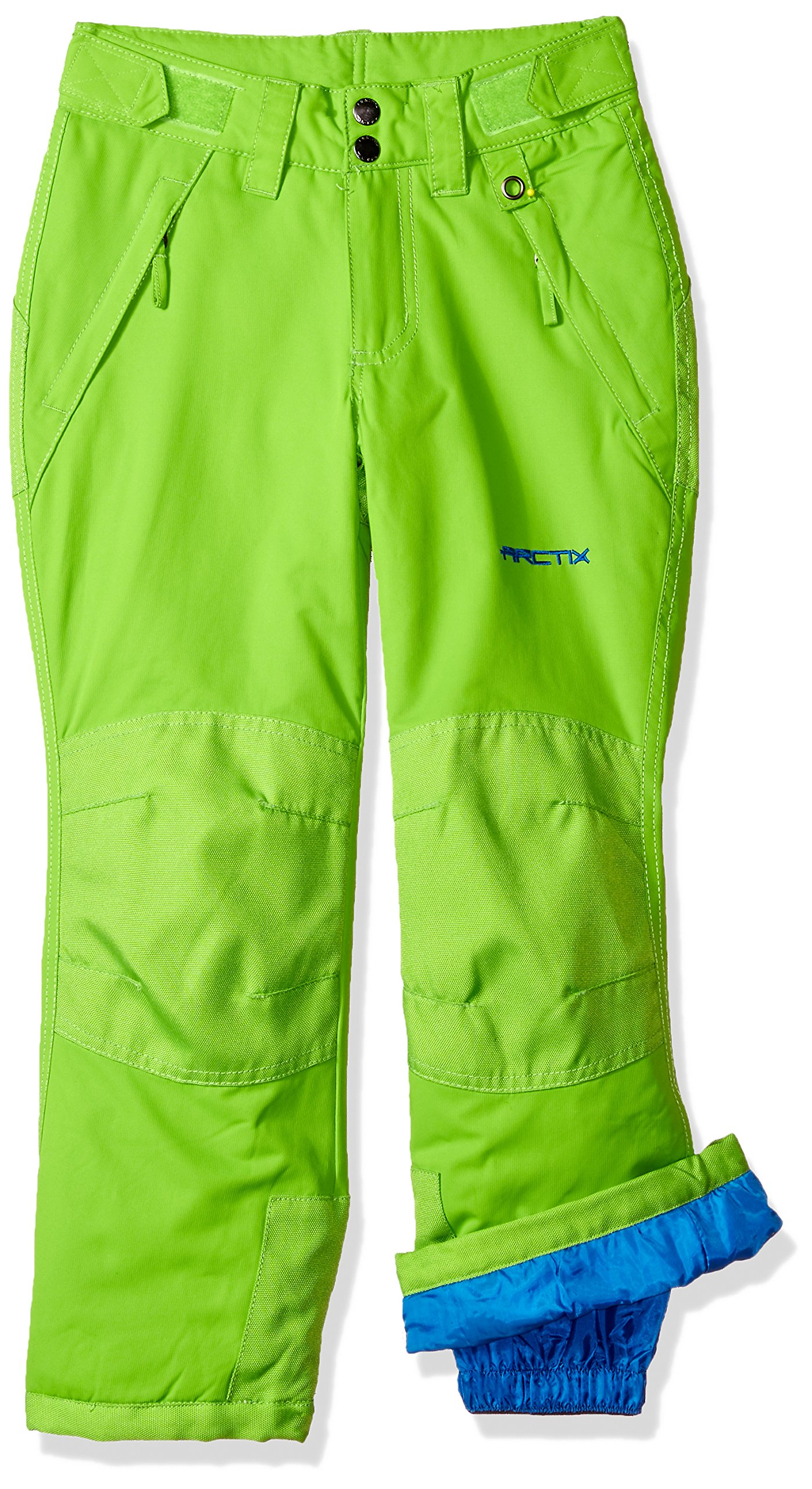 Arctix Youth Snow Pants with Reinforced Knees and Seat, Lime Green, X-Small
