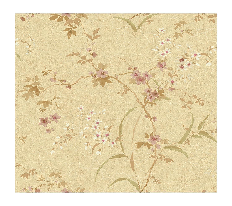 York Wallcoverings GL4674SMP Brandywine Garden Petals 8-Inch x 10-Inch Wallpaper Memo Sample Shimmering Champagne//Deep Tan//Soft Pink