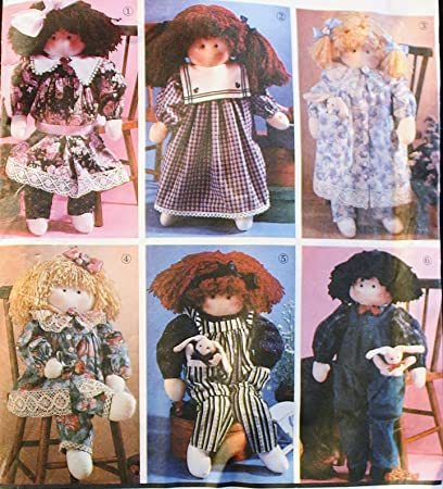Amazon Oop Simplicity Crafts Pattern 8688 22 Stuffed Rag Doll