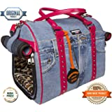 Dog Carrier - Hand Crafted Designer Item - Safety And Comfort For Your Pet - Airline Under The Seat Approved Carrier - Extra Soft With A Rigid Frame - Head-Turning Handbag - An Affordable Luxury - Light As A Feather - Strap Doesn't Slide Off Your Shoulder - No Pet Escape Possible - Waterproof Lining - 100% You'll Love It Or Your Money Back Warranty