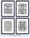 Amazon Price History for:Motivational Inspirational Quotes Art Prints 4 Pack | Set of Four Photos 8x10 Unframed | Classroom Office Home Wall Art - Inspire Teen Boy Girl Fitness Success Workout Sports Gym Hard Work Decor