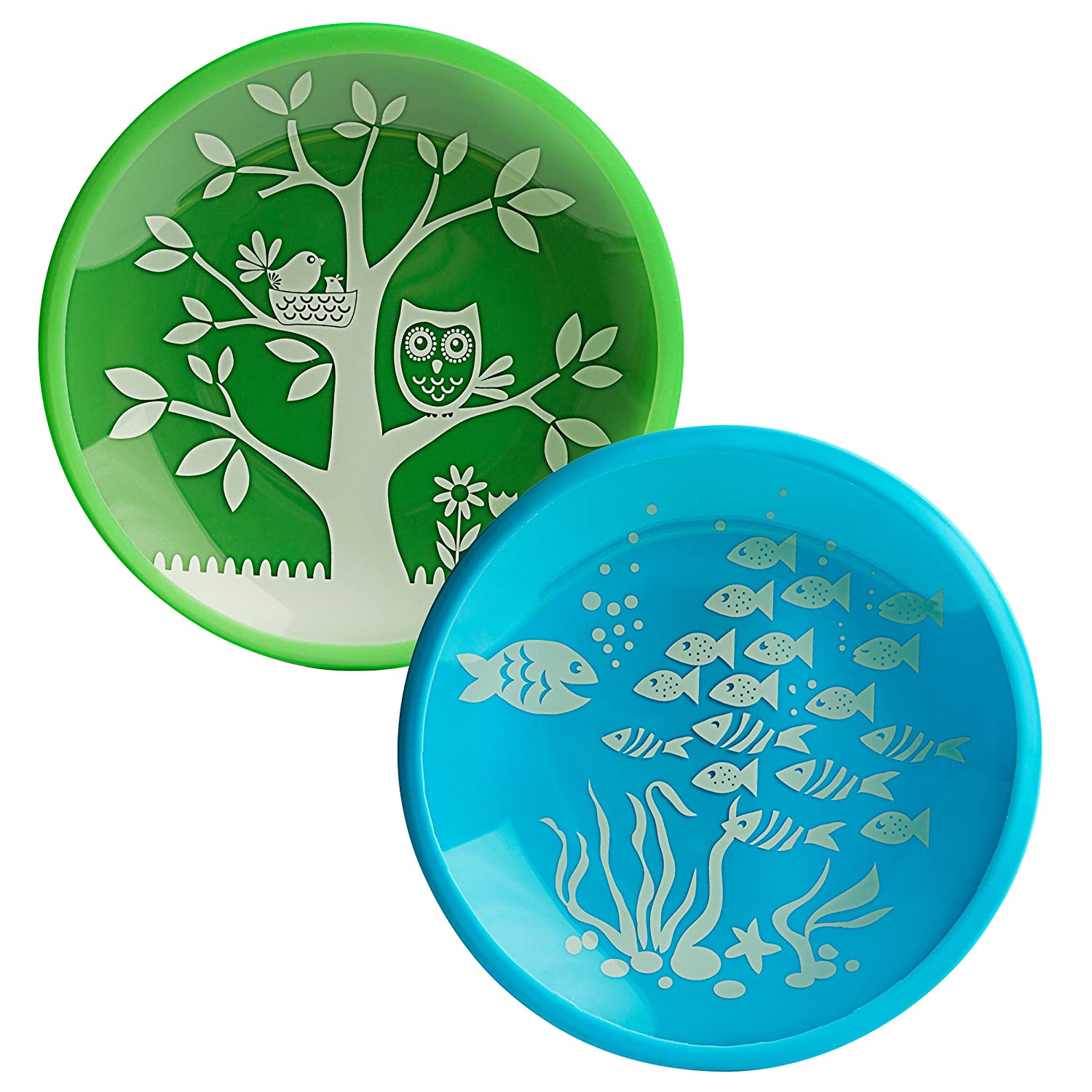 Brinware it's a hoot Dish Set, School of Fish BRIM2PKBG