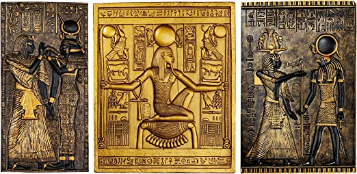 Design Toscano Egypitan Decor Eye of Horus Wall Sculpture Plaque Full Color Polyresin 30 cm
