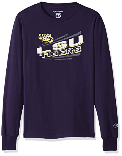 95cf5203 Amazon.com : Champion NCAA LSU Tigers Youth Boys Long Sleeve Jersey ...