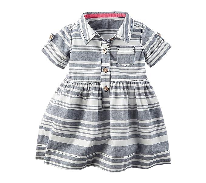 d8942335cdcb Amazon.com  Carter s Baby Girls  Striped Dress  Clothing