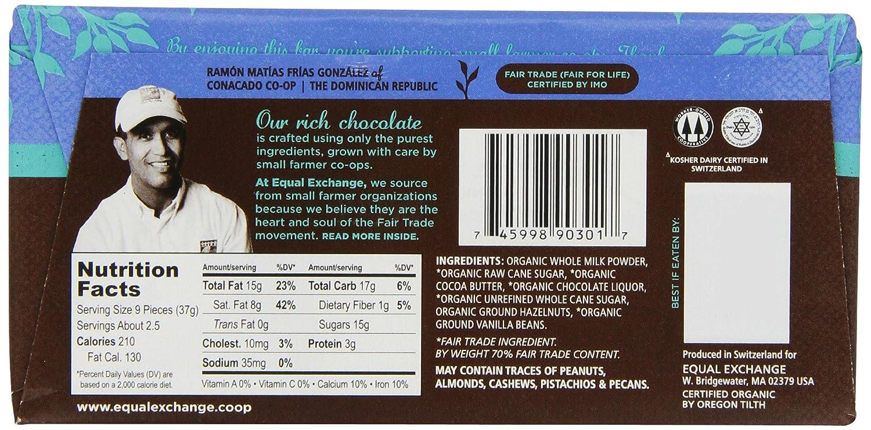 Amazon.com : Equal Exchange Organic Milk Chocolate, 2.8-Ounce ...