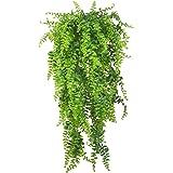 Plantas artificiais Vines samambaias ratã persa plantas falsas pendurar plantas falsas pendurar Boston flores de samambaia Vi