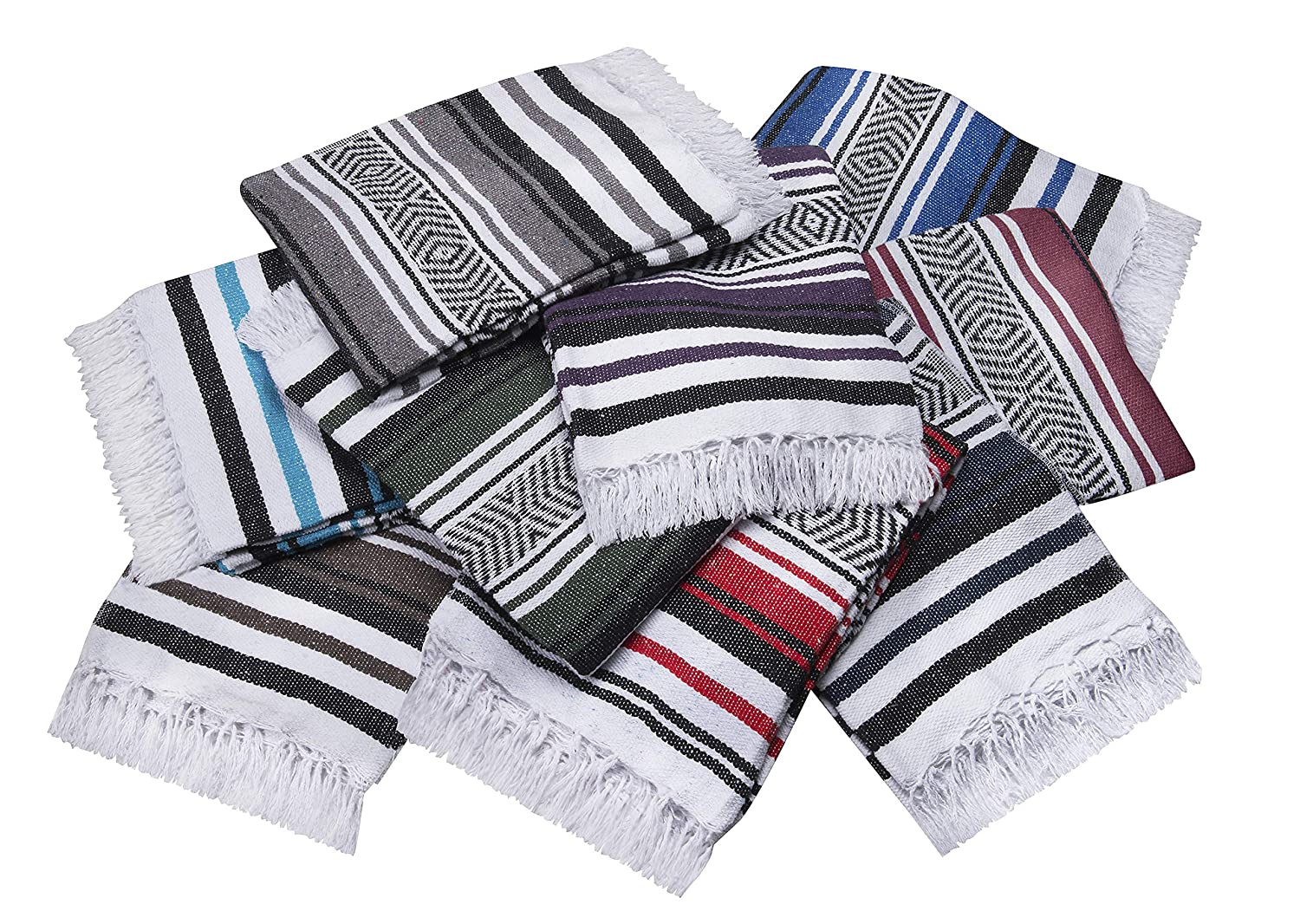 Vera Cruz – Mexican Yoga Blankets – 10-Pack – Wholesale Pricing – Made in Mexico