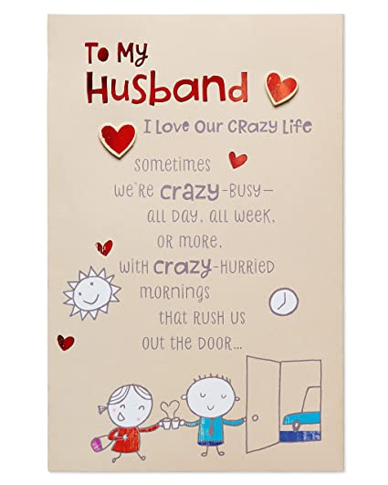 Amazon American Greetings Crazy Life Birthday Greeting Card For Husband With Foil Office Products