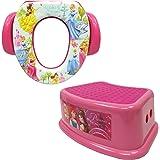 Disney Princess Potty Training Combo Kit - Contour Step Stool & Soft Potty, Pink