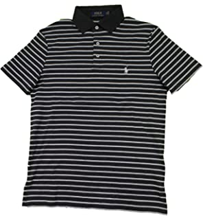 d00d0f53 Polo Ralph Lauren Men's Classic Fit Pony Logo Striped Polo Shirt at ...