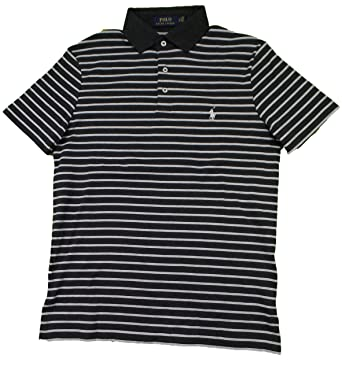 242a40f5477a8 Polo Ralph Lauren Men's Regular Fit Striped Knit Polo Shirt - S - White  Heather