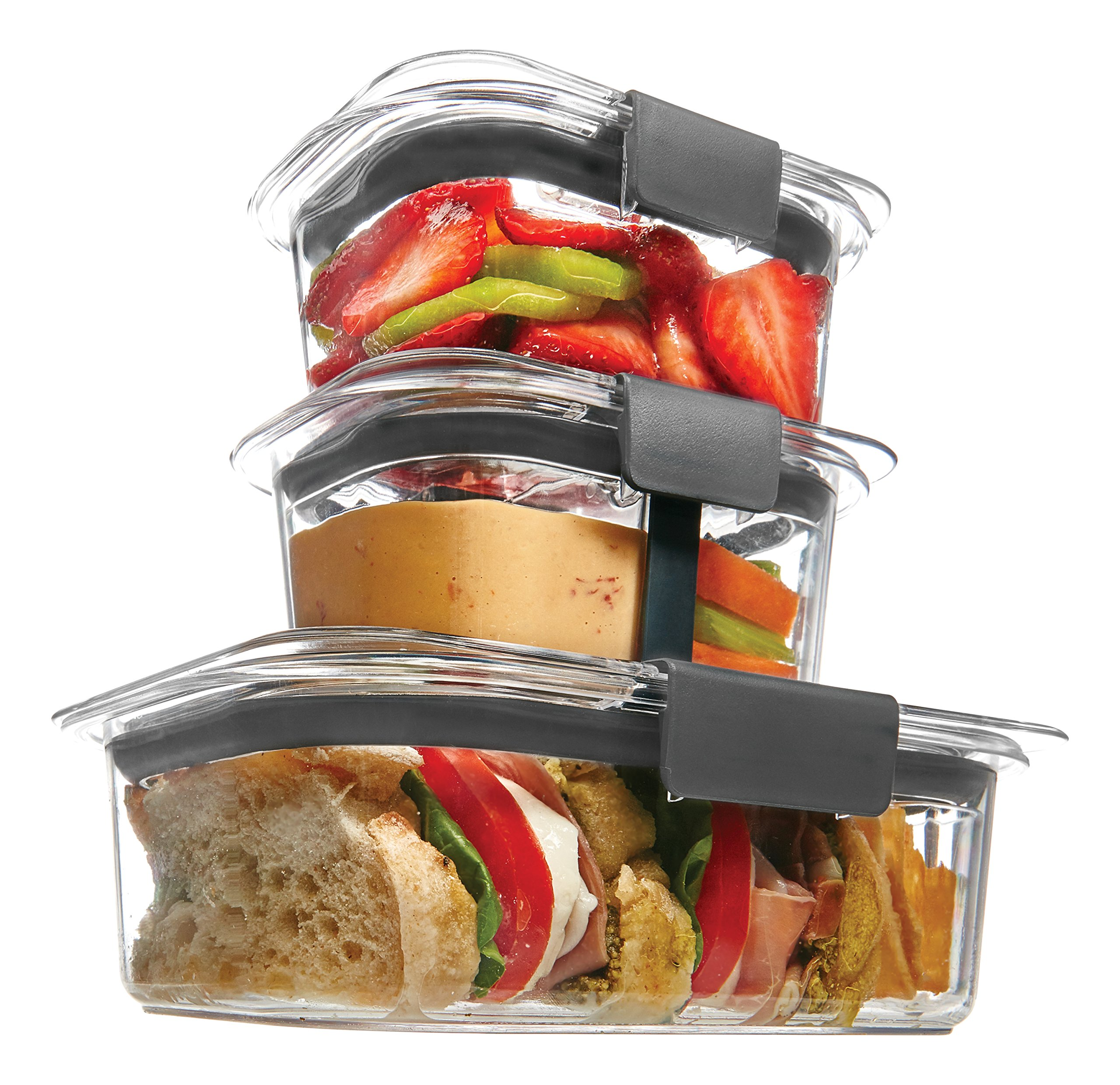 Rubbermaid Brilliance Food Storage Container, Sandwich and Snack Lunch Kit, Clear, 10-Piece Set 1997842 by Rubbermaid (Image #2)