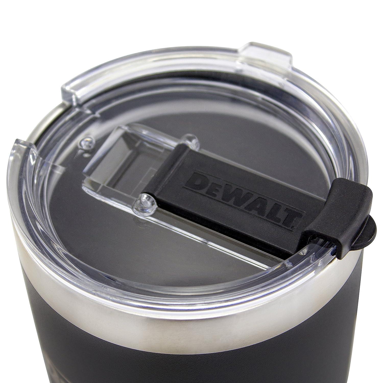 Black 30 Ounce Metalware DXC30OZTBS DEWALT Stainless Steel Tumbler