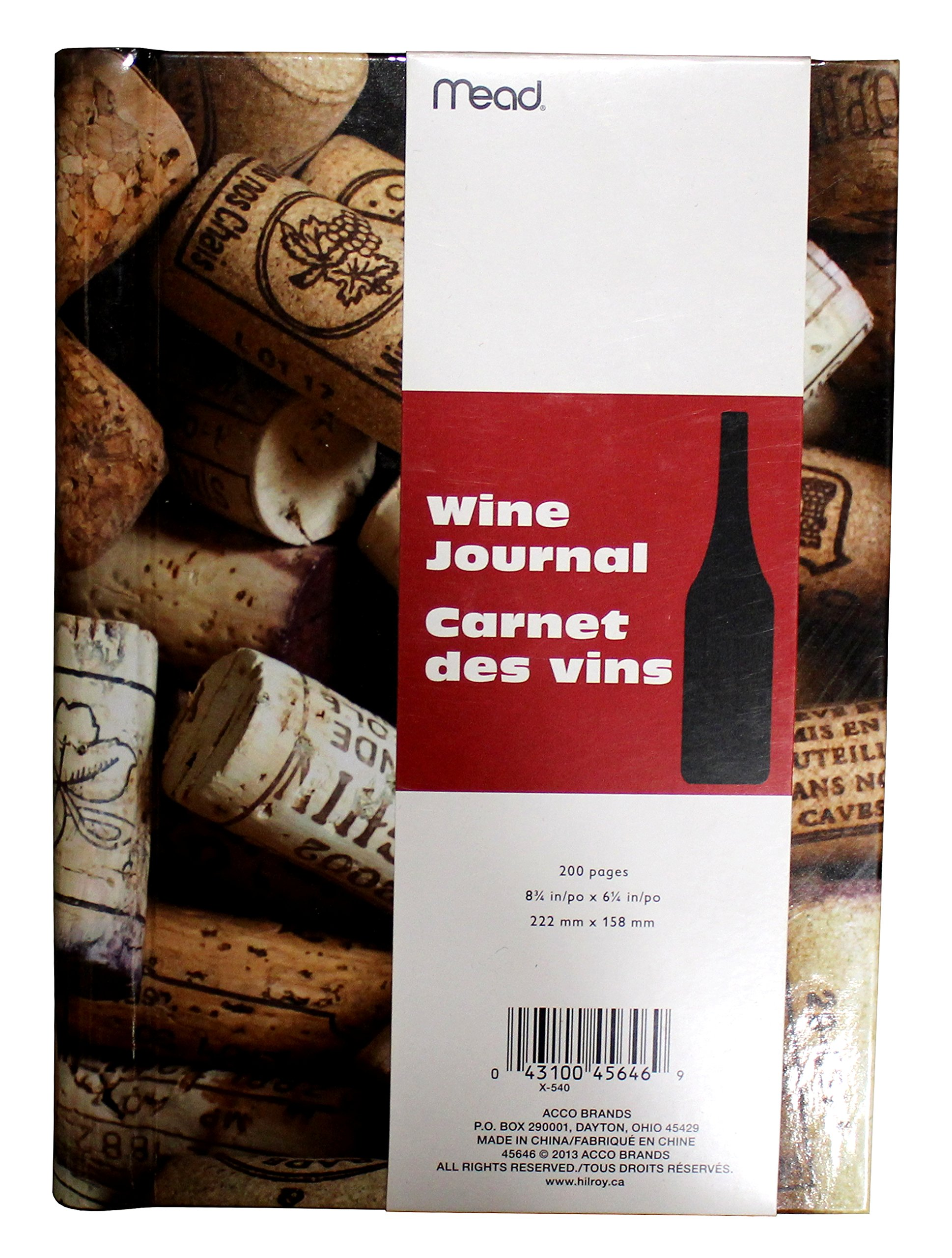 Mead Wine Journal, Dimensions 8 ¾ in x 6 ¼ in (222 mm x 158 mm), 200 pages by ACCO Brands (Image #2)