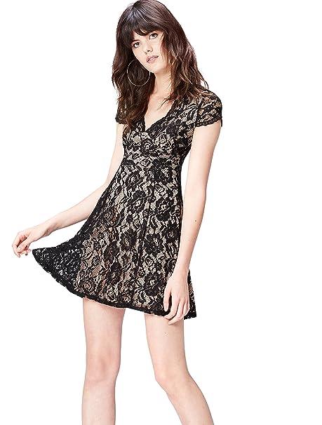 FIND 13612 vestidos mujer, Negro (Black), 36 (Talla del Fabricante: