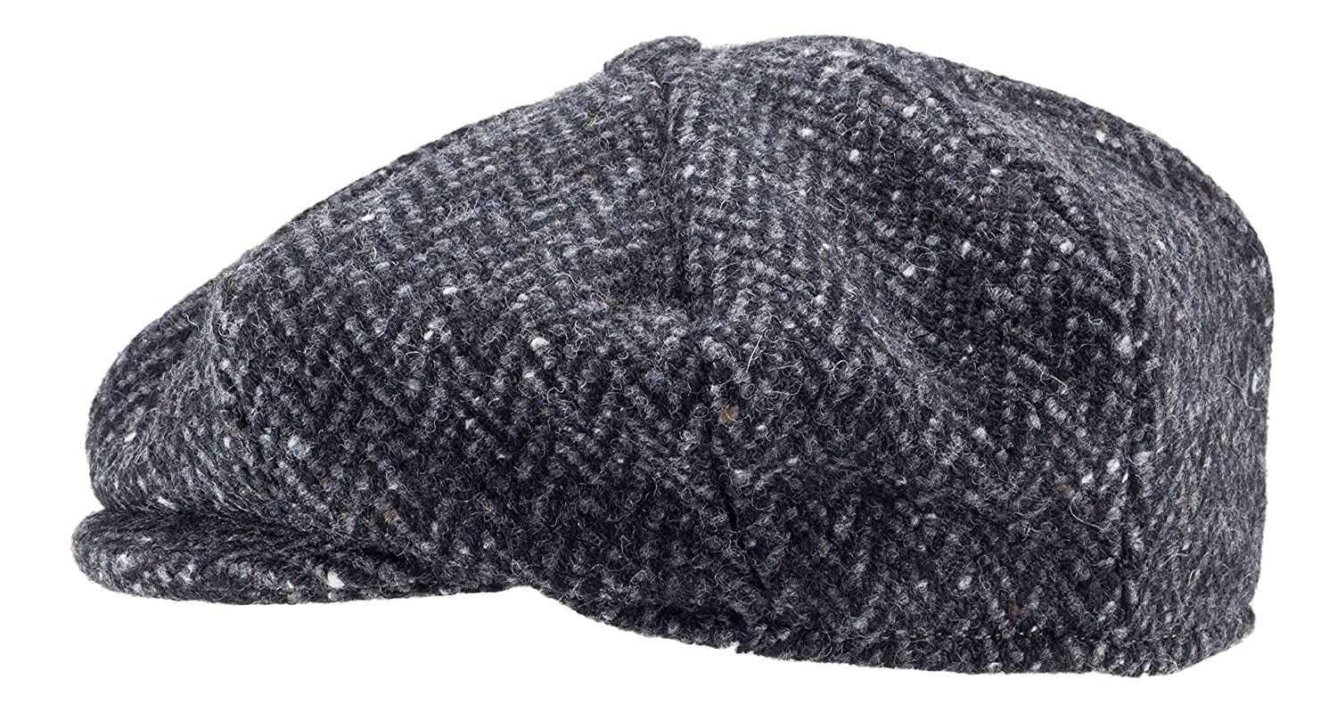 ecdbf8dce0b0a 100% Handmade Handwoven Tweed. Newsboy  Cap.Black Herringbone.made by Hanna  Hats at Amazon Men s Clothing store