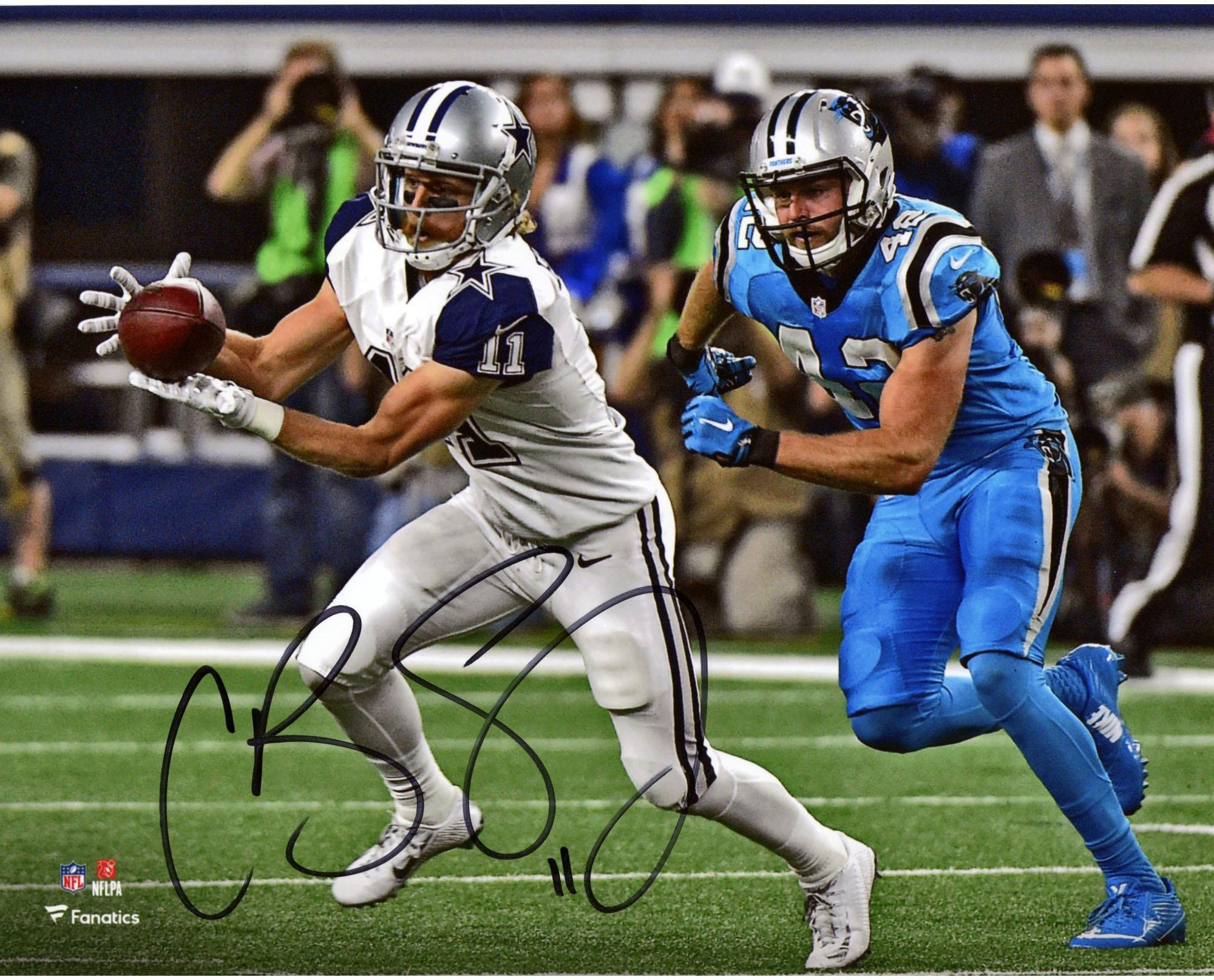 "Cole Beasley Dallas Cowboys Autographed 8"" x 10"" Catching Photograph Fanatics Authentic Certified Autographed NFL Photos"