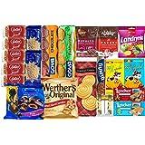 TASTE OF EUROPE SWEET BOX, EUROPEAN SNACKS by Granda. 12 Count. Sweets from Italy, German, Spain, Greece, Belgium, Ukraine an