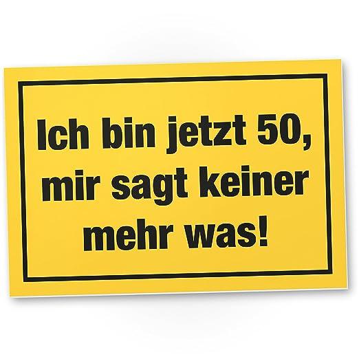 DankeDir!. Ich Bin 50 años, plástico Cartel - 50 cumpleaños ...
