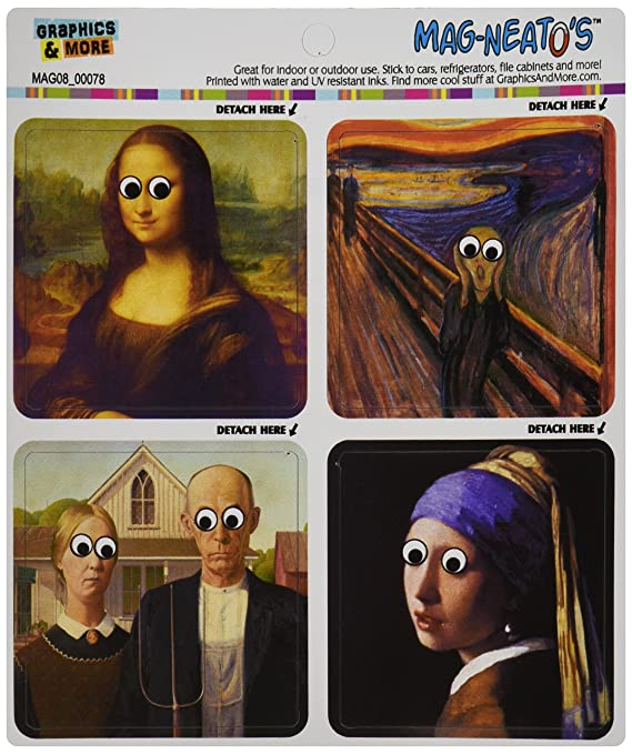 famous paintings funny googly eyes mona lisa the scream mag neato s