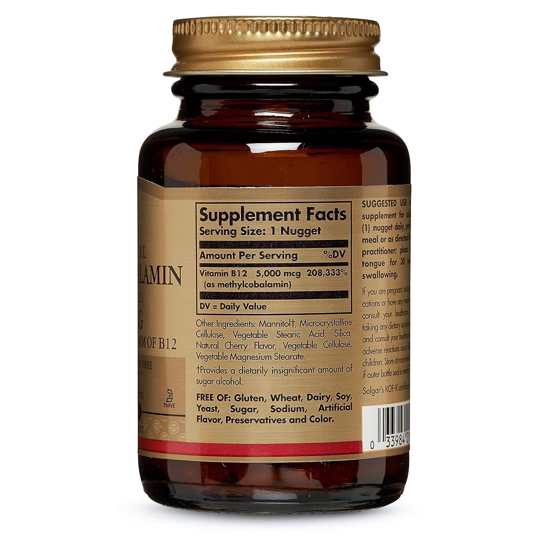 Solgar, Sublingual Methylcobalamin, 5000 mcg, 60 Nuggets
