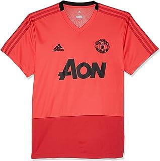 adidas 2018-2019 Man Utd Training Football Soccer T-Shirt Jersey (Pink)