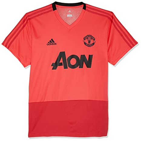 new product 857cd 7d1a2 adidas 2018-2019 Man Utd Training Football Soccer T-Shirt Jersey (Pink)