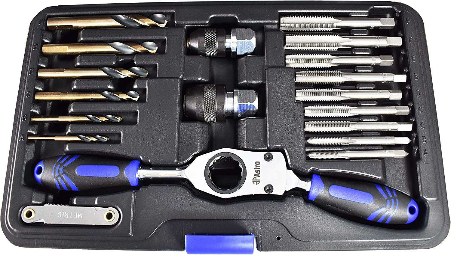 Astro Pneumatic Tool 7581 Metric Automotive Drill /& Tap Set