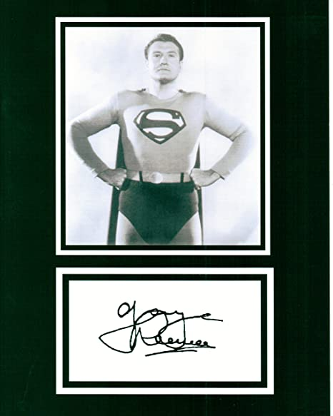 George Reeves 1952 Superman 8x11 Photo Autograph Best Wishes Black and White