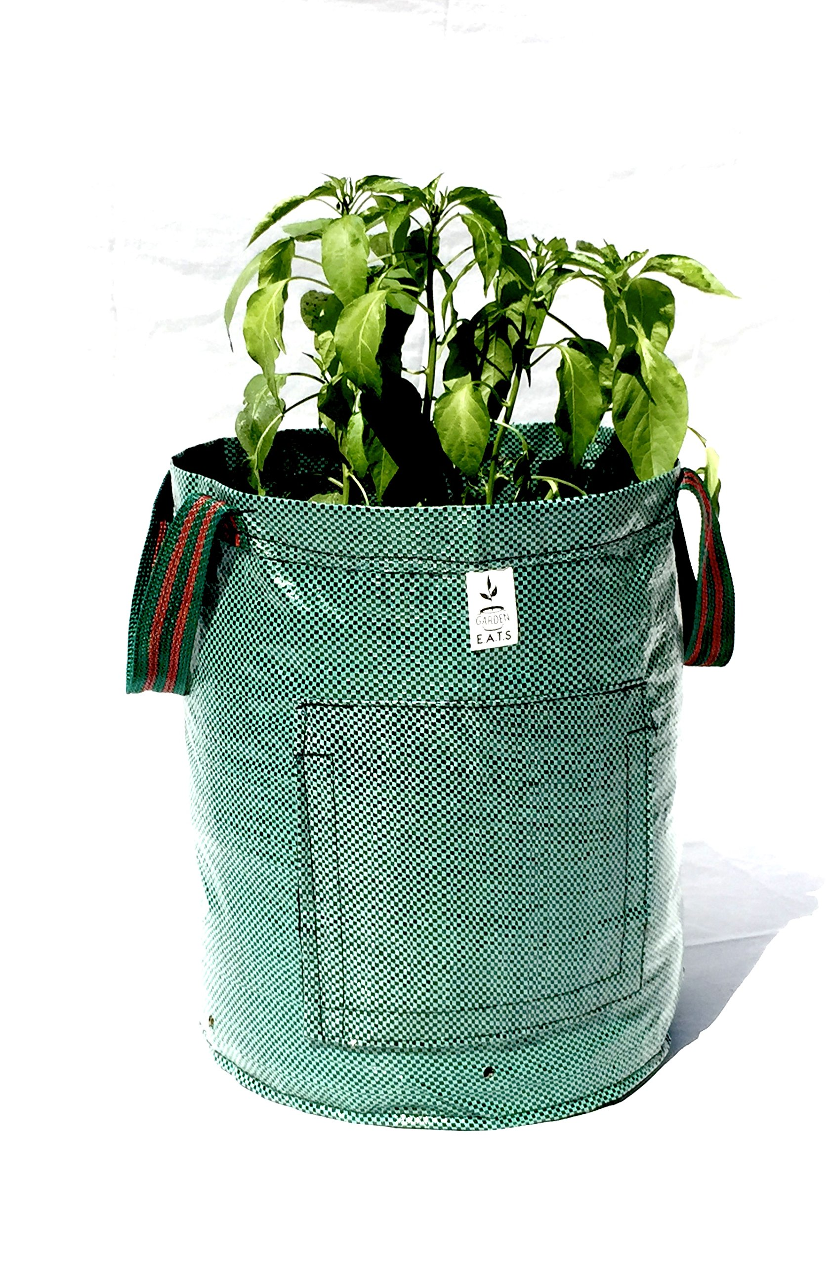 Garden E.A.T.S. 10 Gallon Garden Potato Grow Bag With Handles (2Pack)-Grow Veggies: Onions, Potatoes, Carrots & Anything You Desire, Smart Easy Access Door To Harvest All Root Vegetables
