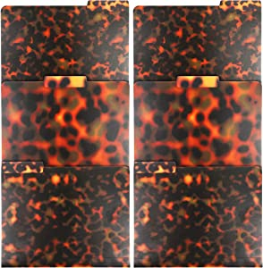 Tortoise Shell File Folder, Letter Size with 1/3 Cut Tab (6 Pack)