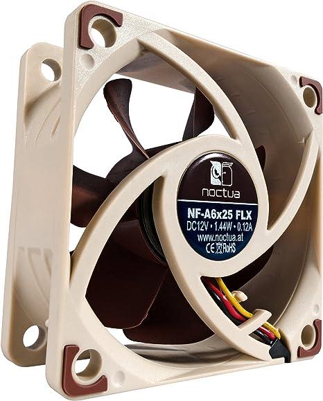 Noctua NF-A6x25 FLX, Ventilador Silencioso de Gran Calidad, 3 Pines (60 mm, Marrón): Amazon.es: Informática