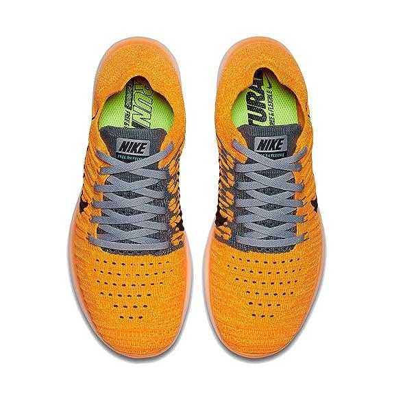 ... Amazon.com | Nike Women's Free Running Motion Flyknit Shoes, Laser  Orange/Gamma ...