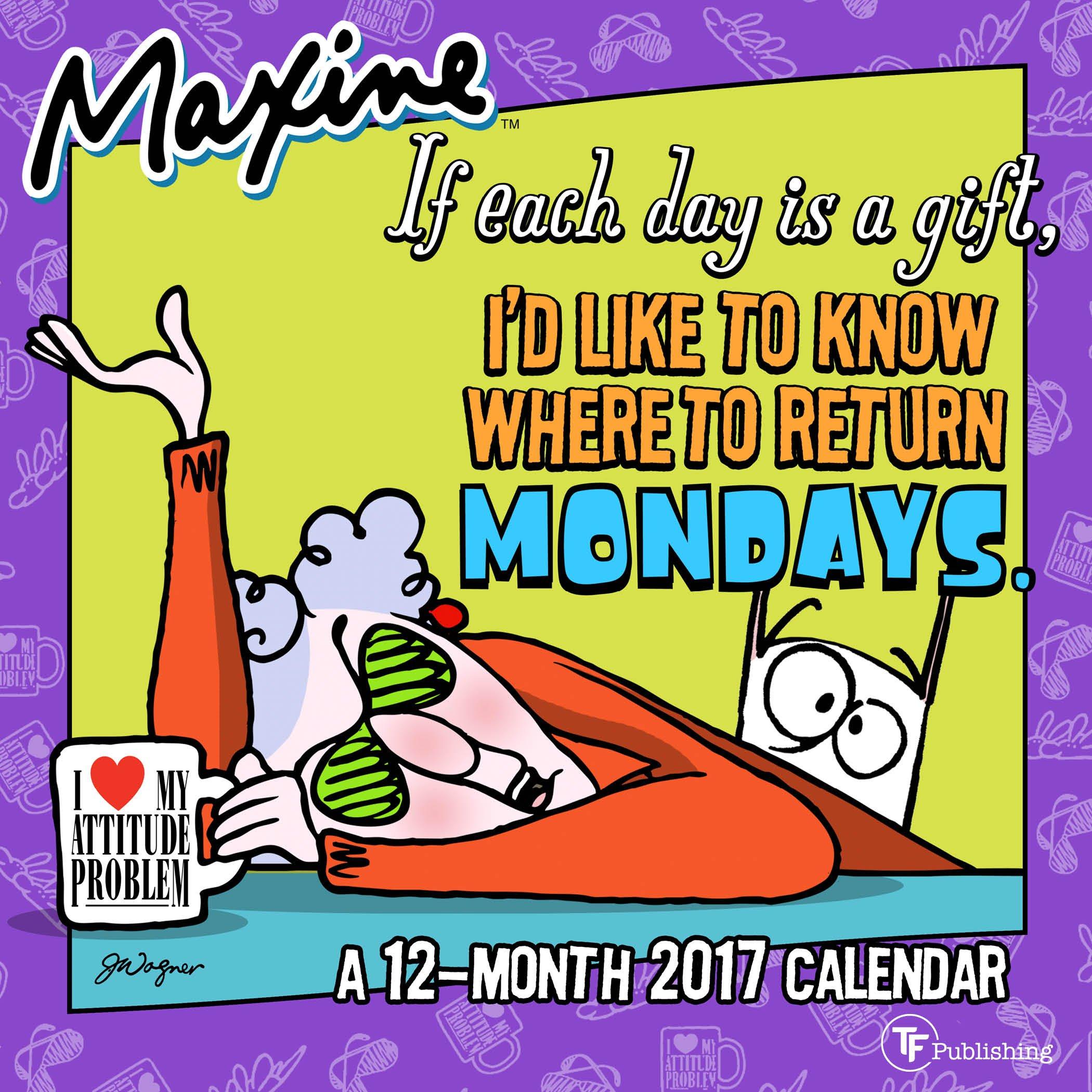 2017 Maxine Hallmark Mini Calendar Product Image