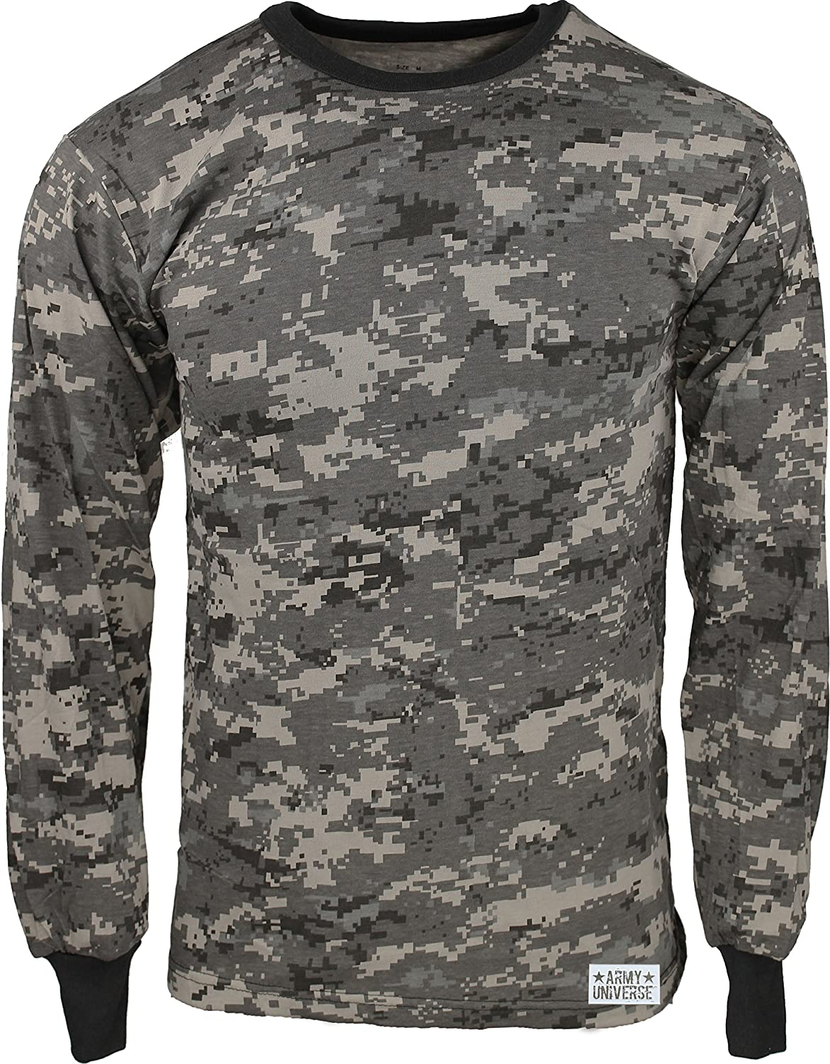 Amazon.com  Military Camouflage Long Sleeve T-Shirt Camo Army Tee With  ArmyUniverse Pin  Clothing 0746edcc9