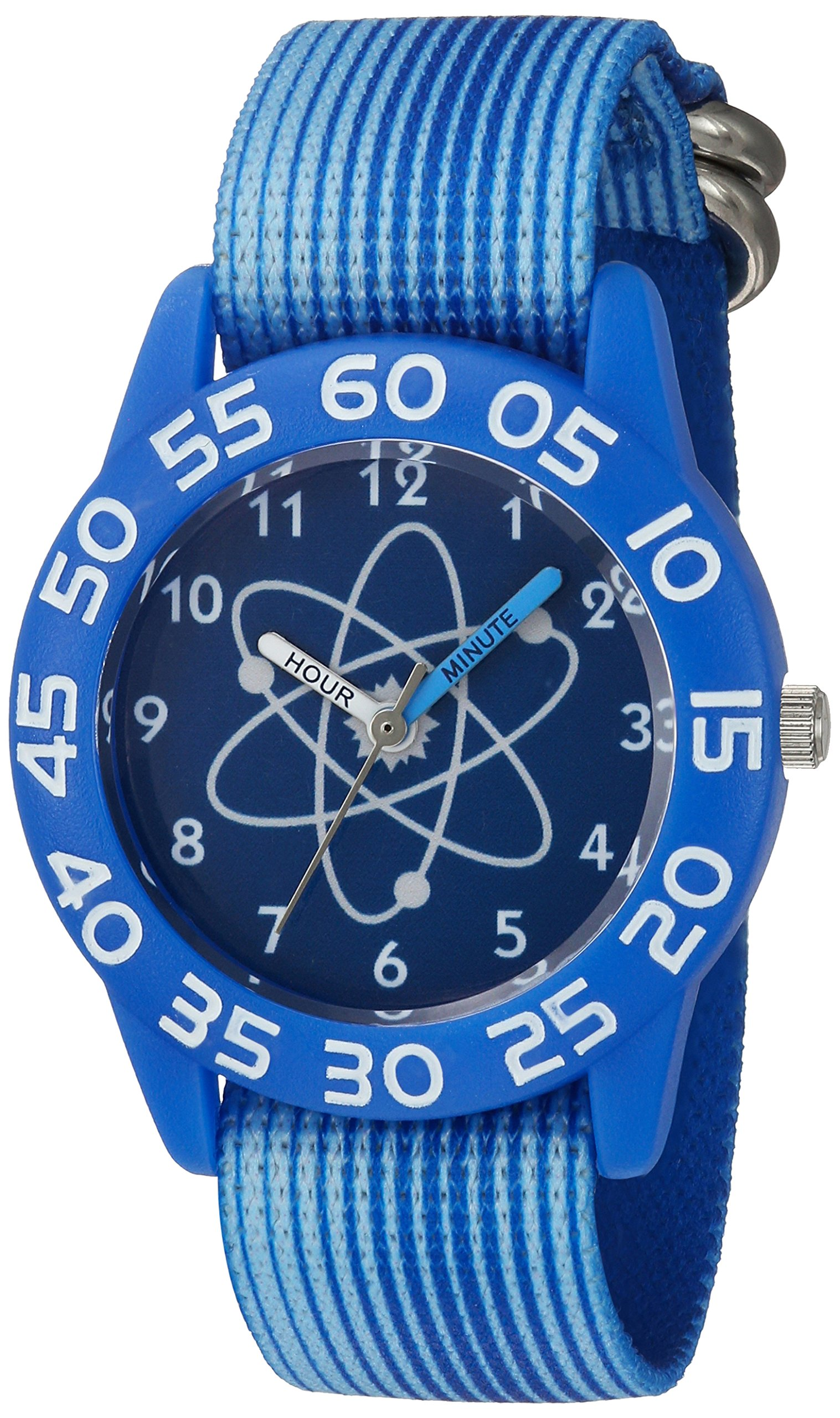 eWatchFactory Boy's 'Discovery Channel' Quartz Plastic and Nylon Sport Watch, Color Blue (Model: WDC000023)