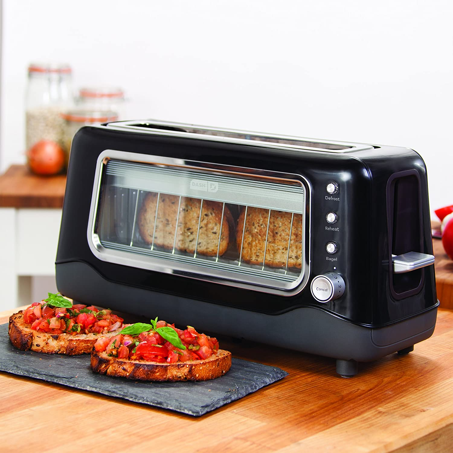 dash clear view toaster kitchen dining