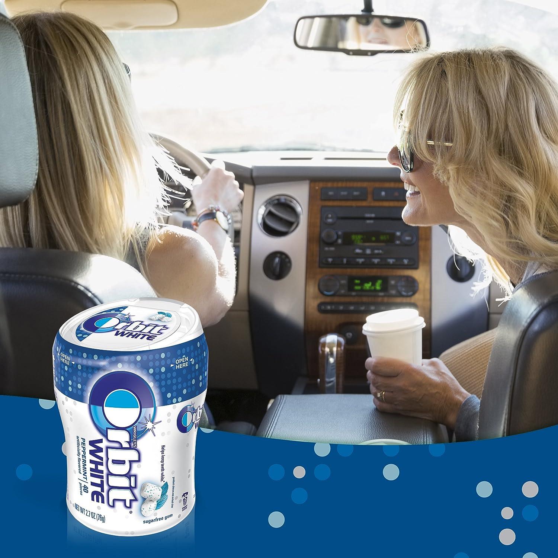 Amazon.com : Orbit White Peppermint Sugarfree Chewing Gum, 40 count ...