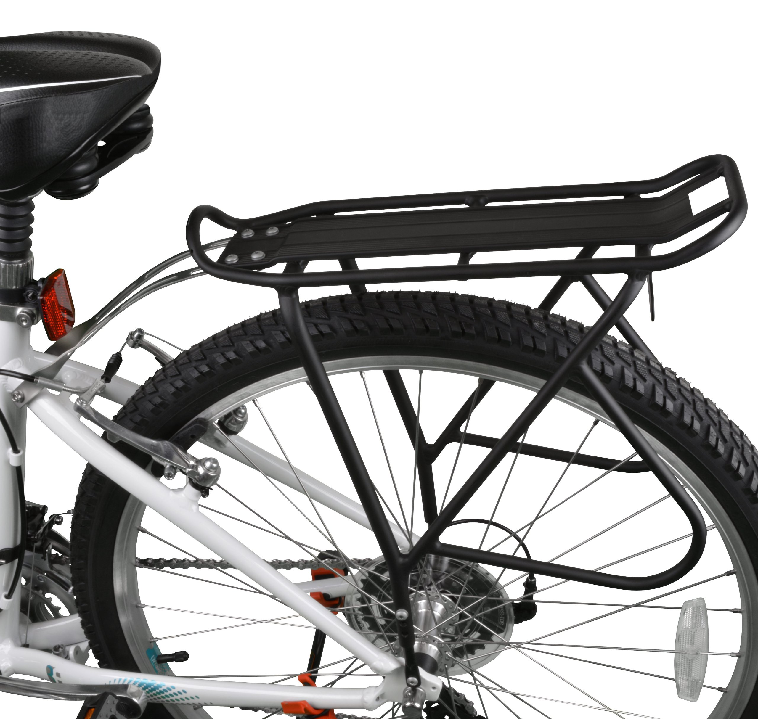 Ibera Bike Rack – Bicycle Touring Carrier with Fender Board, Frame-Mounted for Heavier Top & Side Loads, Height Adjustable for 26''-29'' Frames