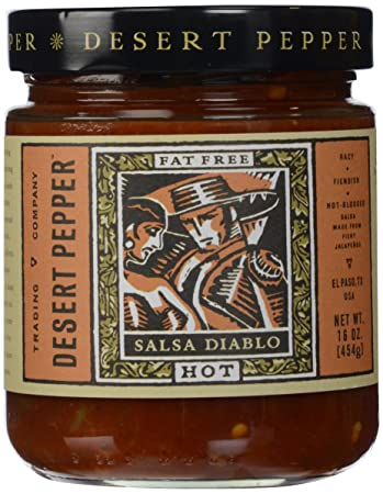 Desert Pepper, Salsa Diablo-Hot, 16 oz
