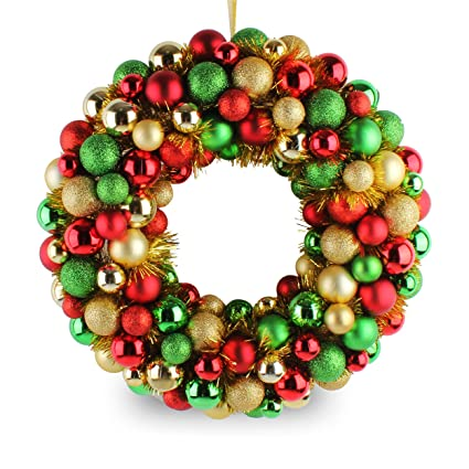 Amazon Com Jusdreen 16 Christmas Wreath Ball Ornaments