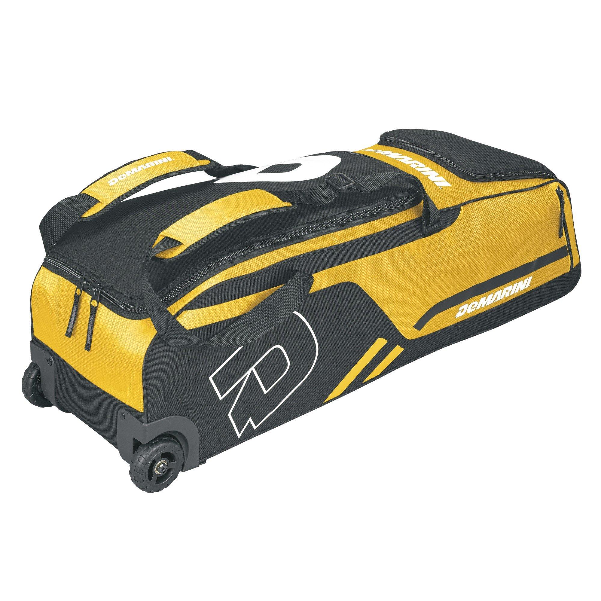 DeMarini Momentum Wheeled Bag, Yellow by DeMarini