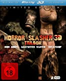 Horror Slasher 3D Trilogie (Iron Doors 3D / Babysitter Wanted 3D / Sweatshop 3D) [3D Blu-ray] [Limited Edition]